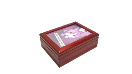 Wooden Photo Frame Musical Jewellery Box 16070